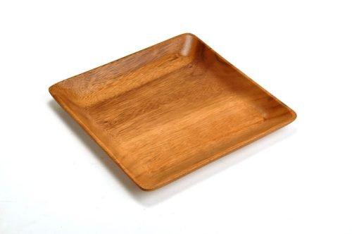 medium acacia square plate