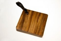small acacia cutting board square