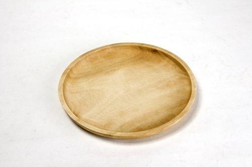 medium rustic light wood plate