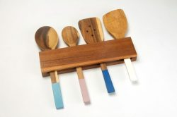 acacia spoon holder wall