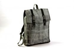 large back pack tie dye grey