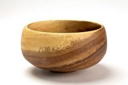 medium acacia bowl calabash shaped