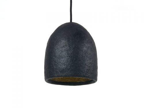 paper pulp lamp shade black small