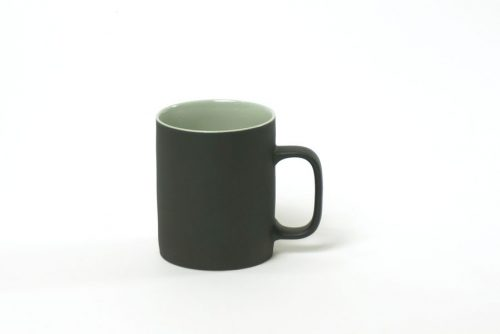large cup with black green|cups black matt with glossy green