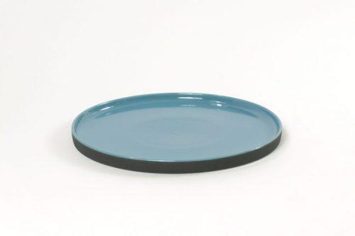 plate ceramic blue black|tablewear blue glossy black matt