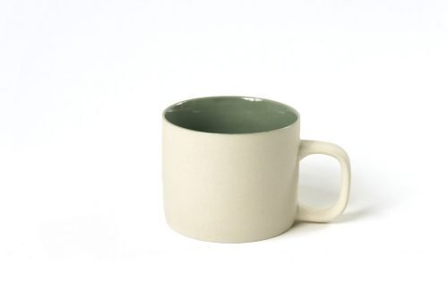 cup with ear natural celadon|cups with ear matt clay natural
