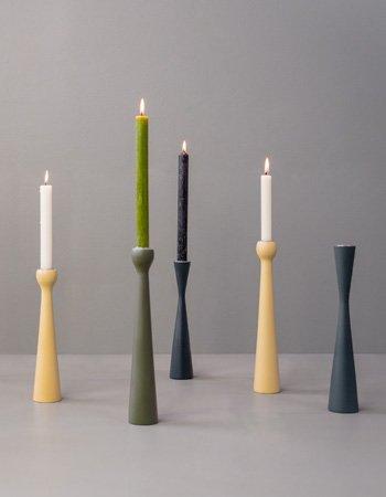 candleholders green craft wood