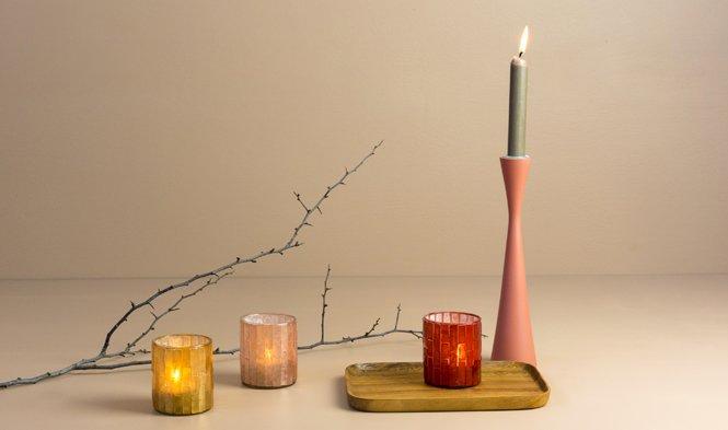 tealightholder capiz cozy warm colors