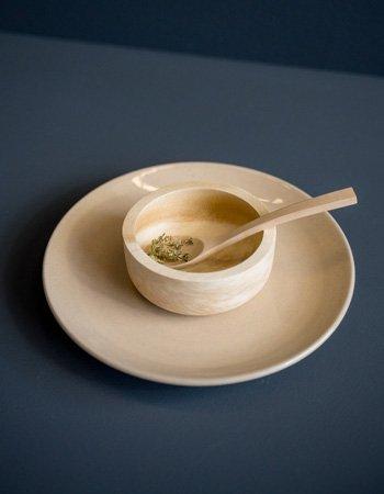 small bowl light wood