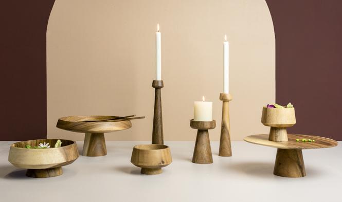 kinta candle holder mushroom bowl