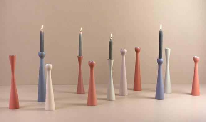 candleholder wood handmade earty tones