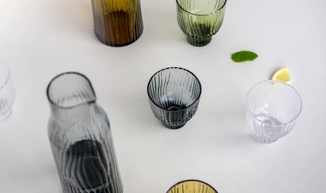 glass tableglass design colored