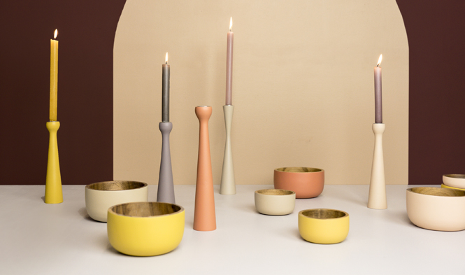 colored bowls candle holders rozy sienna