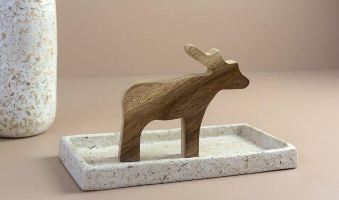 xmas decoration moose wood