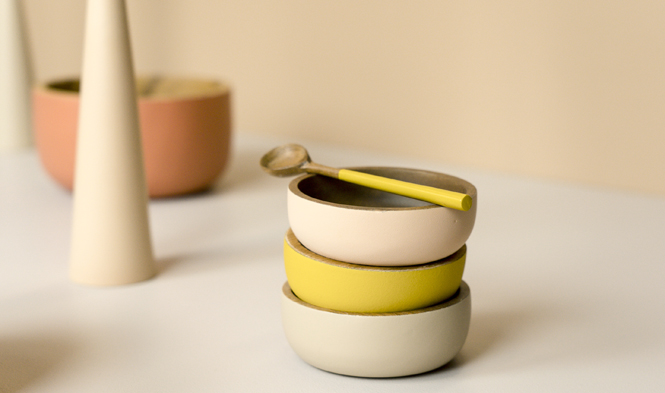 teaspoon wood mustard bowl