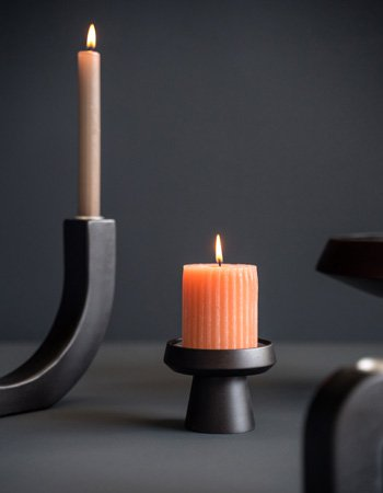 candleholder black dye