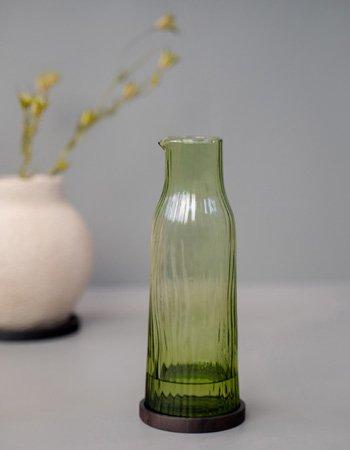 Amnis carafe green glassware