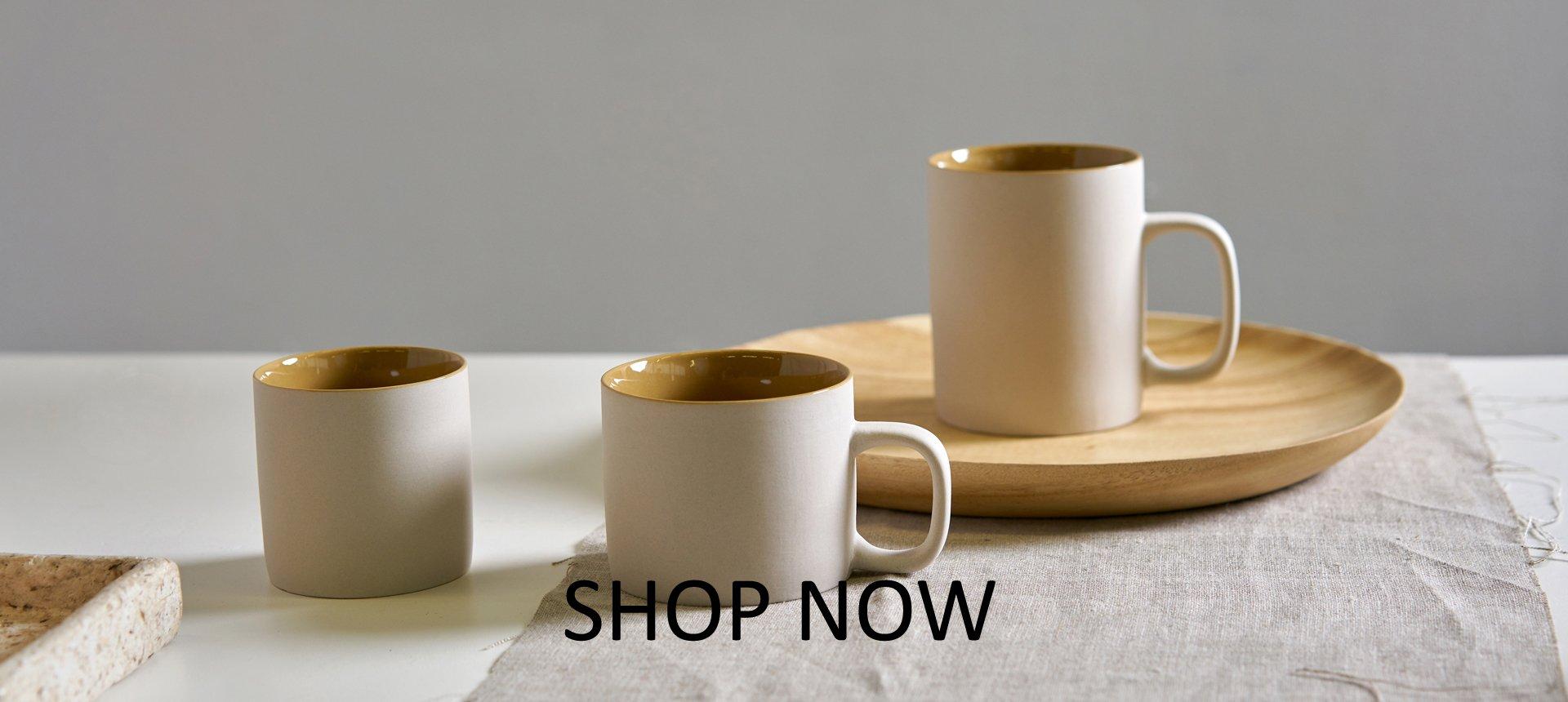 new collection ceramics mustard