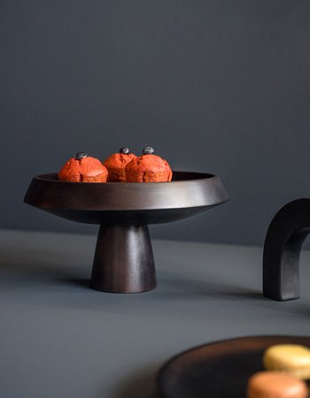 scandinavian bowl black dye