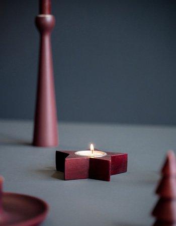 star tealight holder red dye